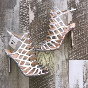 Caged Silver Heels